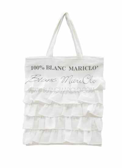 "Shopping Bag ""Fru Fru Collection"" Blanc Mariclò"