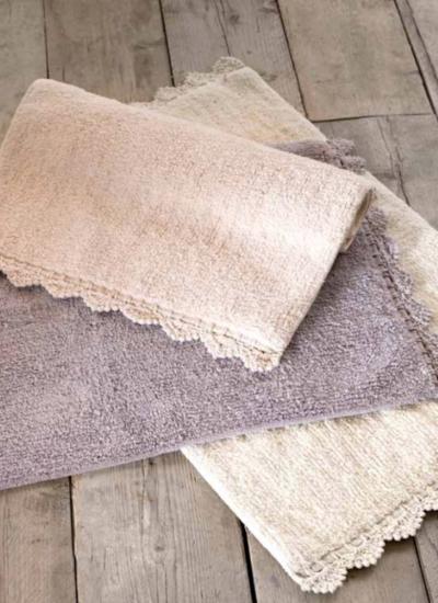 "Tappeto bordo crochet panna ""Crochet Collection"" Blanc Mariclò"