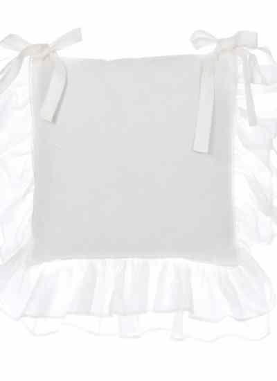 """Cuscino sedia """"Fru Fru Collection"""" Blanc Mariclò"""