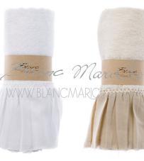 "Coppia Spugna Beige ""Gala Collection"" Blanc Mariclò"