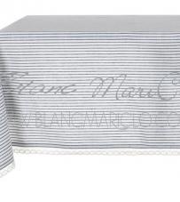 """Tovaglia cerata """"Stripe Mediterraneo Collection"""" Blanc Mariclò"""