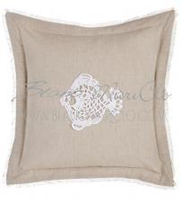 "Cuscino pesce crochet ""Crochet Sealife Collection"" Blanc Mariclò"