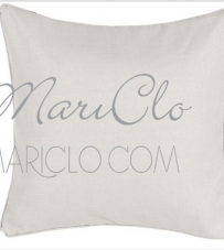 """Cuscino beige con piping """"Coral Collection"""" Blanc Mariclò"""