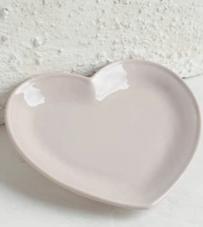 """Piatto cuore rosa """"Luxe Lodge"""""""