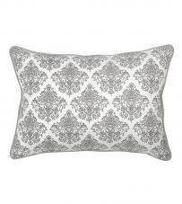 "Cuscino bianco e grigio ""Cachemire"" Mathilde M."