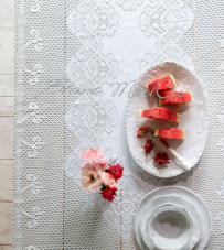 "Blanc Mariclò  - Tovaglia in pizzo ""Villa Amalfi"""