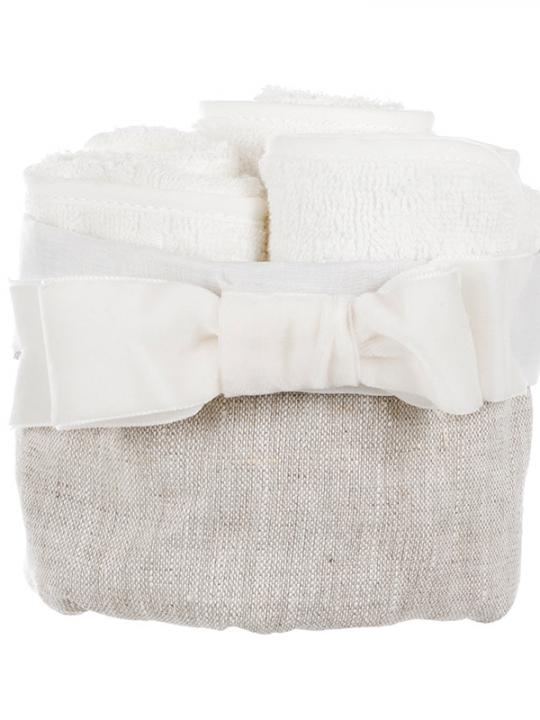 Cestino con 3 lavette