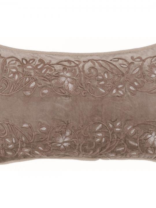 Cuscino ricamato in velluto rettangolare