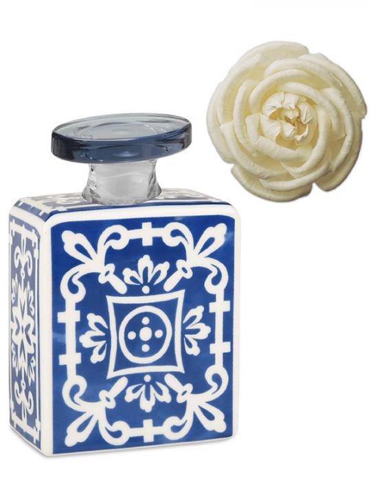 Bottiglia diffusore 240 ml con fiore