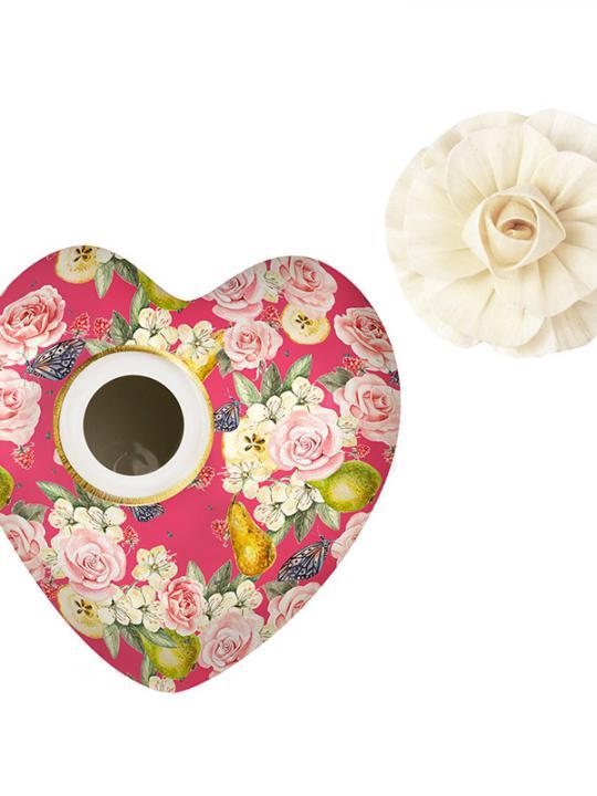 Cuore diffusore 170 ml con fiore