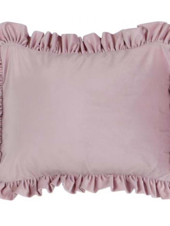Cuscino con gala rosa