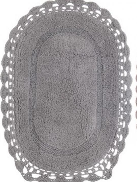 Tappeto Grigio ovale