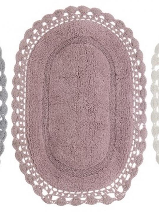 Tappeto Rosa ovale