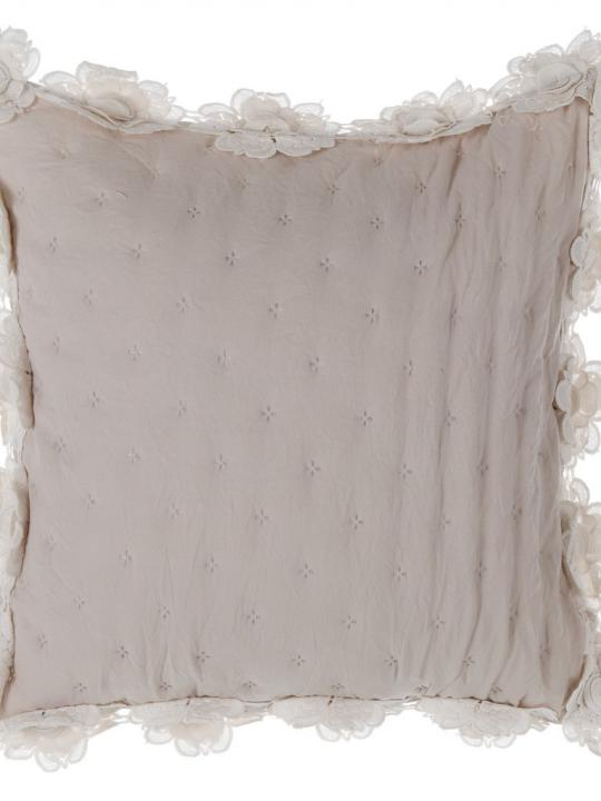 Blanc Mariclò - Cuscino Beige con roselline