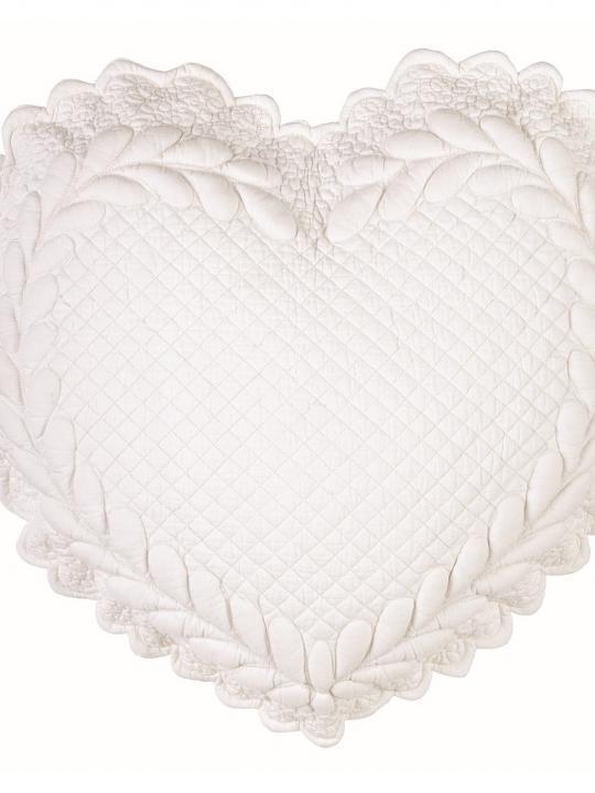 Cuscino cuore  Panna