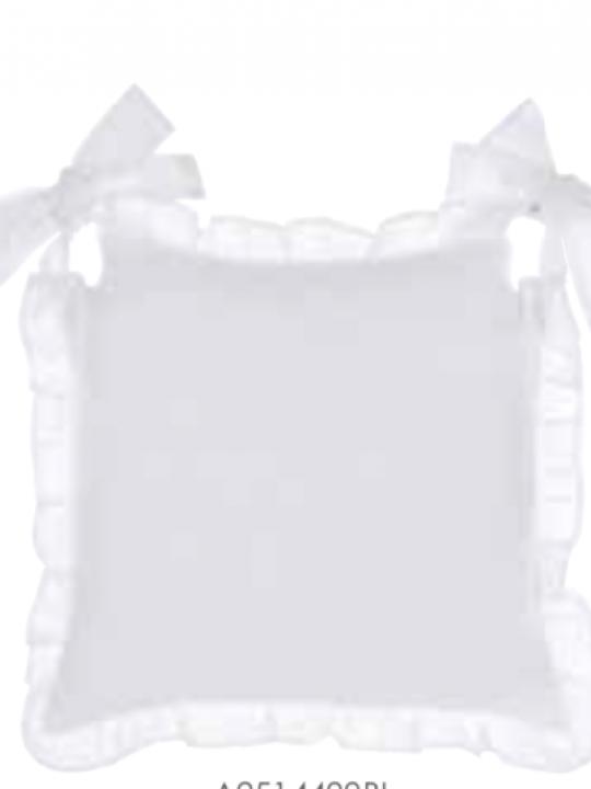 Copricuscino sedia bianco con galetta