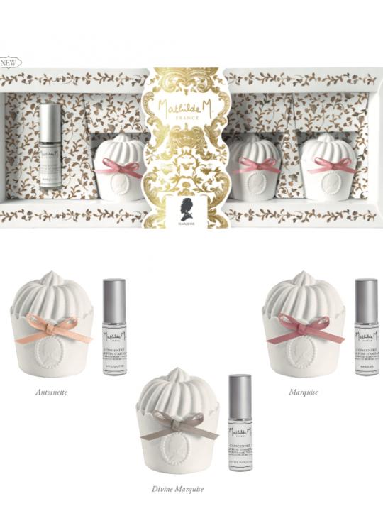Set di 3 decorazioni in gesso profumato Divine Marquise