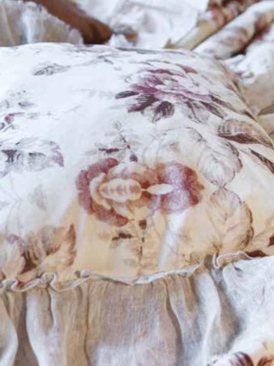 Blanc Mariclò Cuscino con gale