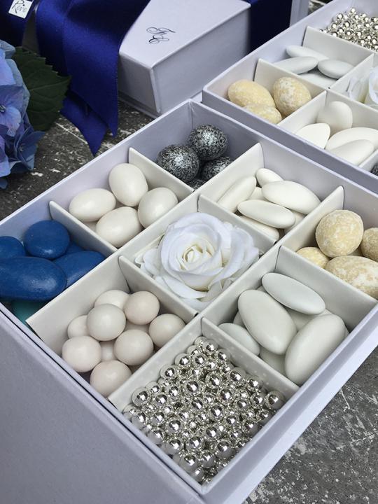 Box confettata personalizzato con iniziali