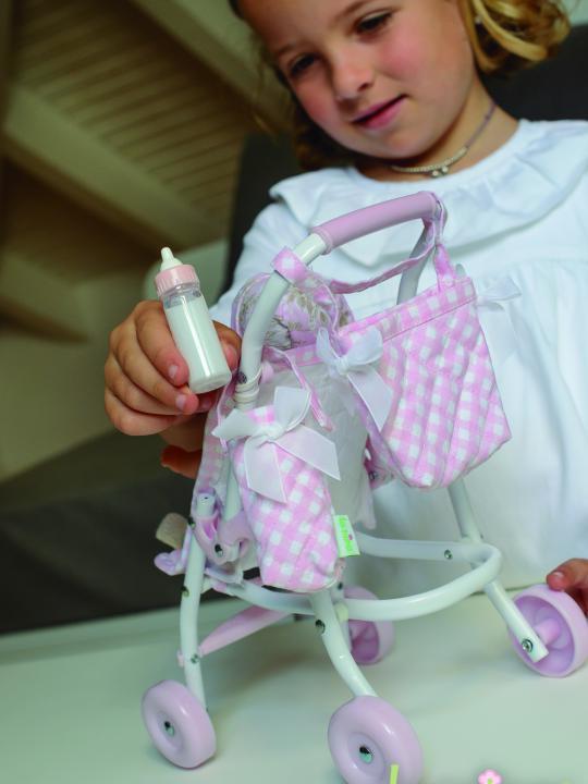 Borsa bambola da passeggino + portabiberon