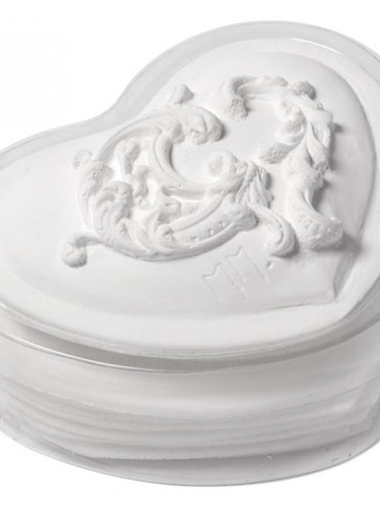 Scatola cuore Arabesque con fogli di sapone Mathilde M.