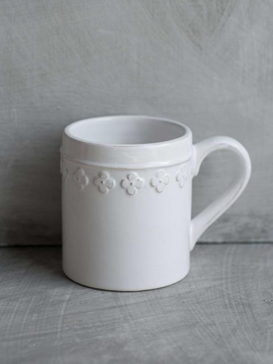 Tazza Mug fiore bianca