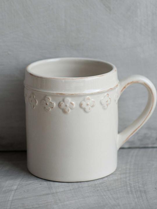 Tazza Mug fiore beige