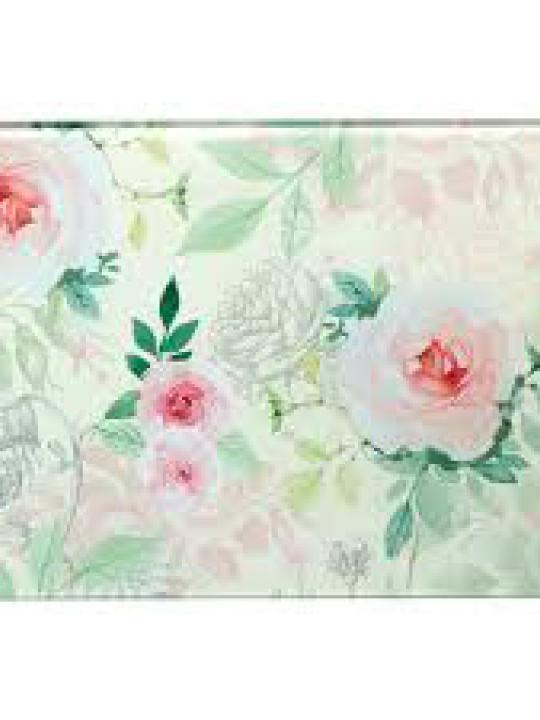 Tagliere in vetro con rose