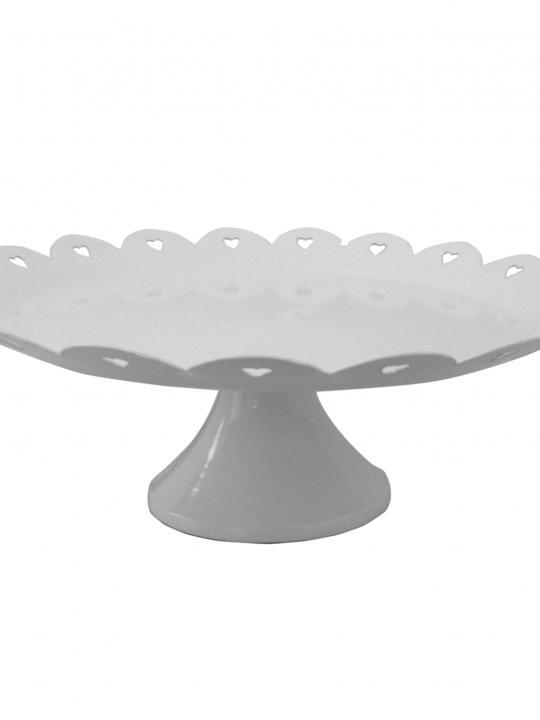 Alzatina in metallo bianca