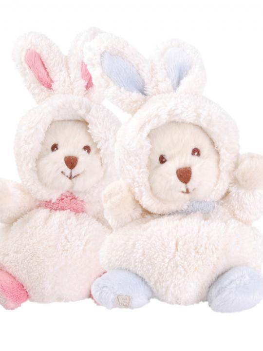 Coniglio/orsetto peluche azzurro
