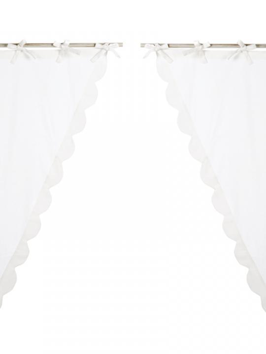 Set 2 mantovane smerlate bianche