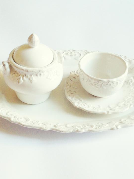 Vassoio ovale in ceramica