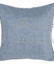 "Cuscino blu con piping ""Coral Collection"" Blanc Mariclò"