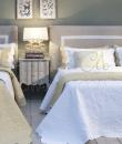 "Boutis Matrimoniale + copriguanciali bianco ""Alie Collection"" Blanc Mariclò"