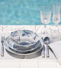 "Set 2 decori pesce ""Stripe Mediterraneo Collection"" Blanc Mariclò"